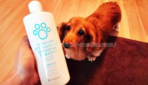 【ワンニャンふわっしゅレビュー】犬の皮膚に安心安全な無添加シャンプー