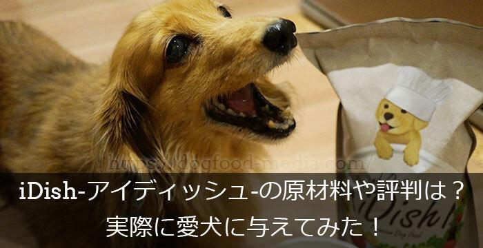 iDish-アイディッシュ-の原材料や評判は?実際に愛犬に与えてみた!